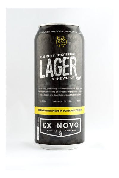 Ex Novo Most Interesting Lager