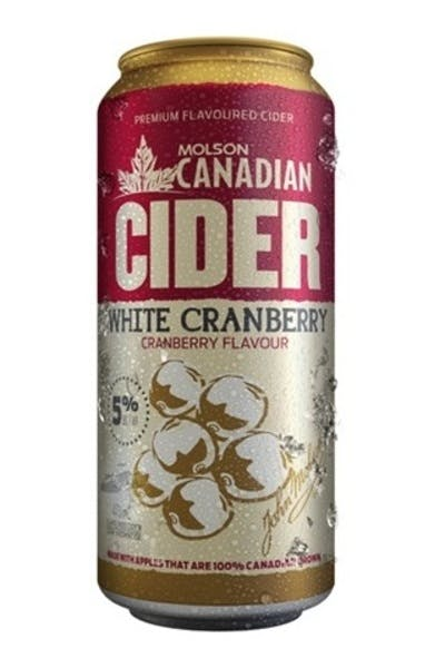 Molson Canadian Cider White Cranberry