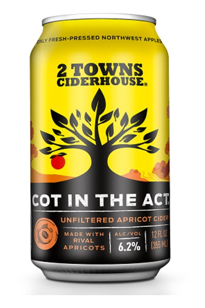 2 Towns Cot In The Act Apricot Cider