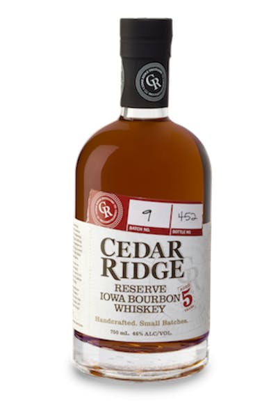 Cedar Ridge Reserve Iowa Bourbon 5 Year