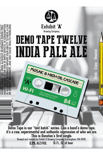 Exhibit A Demo: Tape Twelve IPA