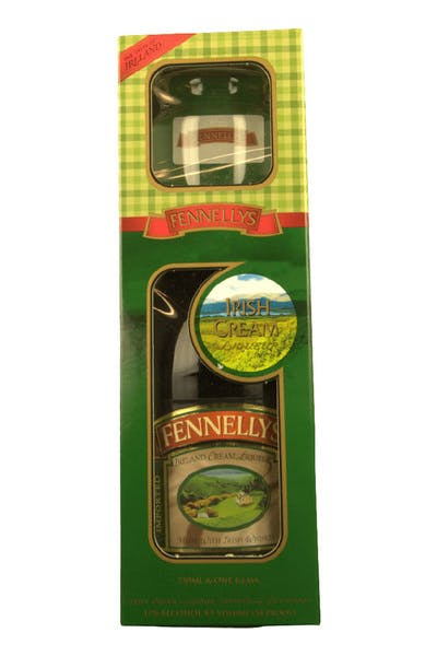 Fennellys Irish Cream Gift Pack With Glass